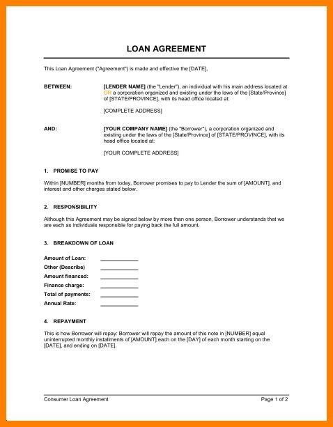 Sample agreement contract between two people – Top downloads for ...