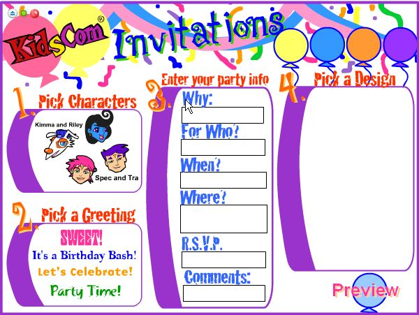 Enchanting Design Birthday Invitation Cards Online Free 26 In ...