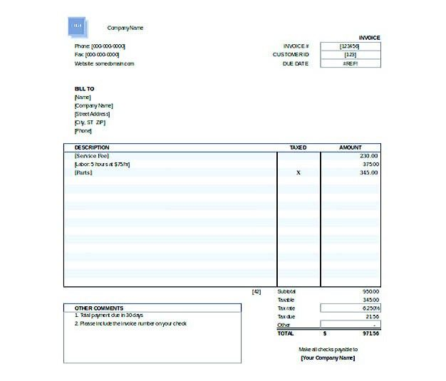 Free Invoice Template Download You Can Customize as You Need!
