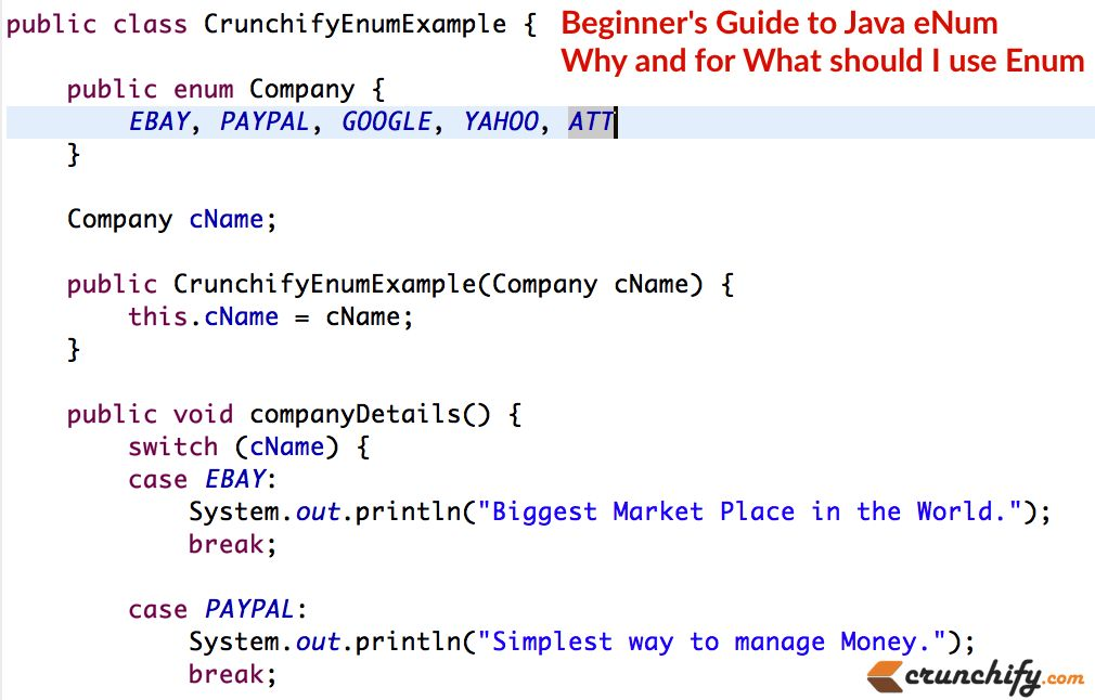 Beginner's Guide to Java eNum - Why and for What should I use Enum ...