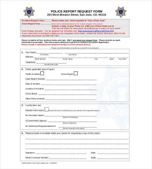 Sample Police Report Template - 6 Free Word, PDF Documents ...