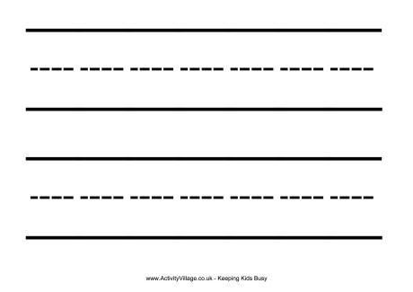 Large Handwriting Lines Printable