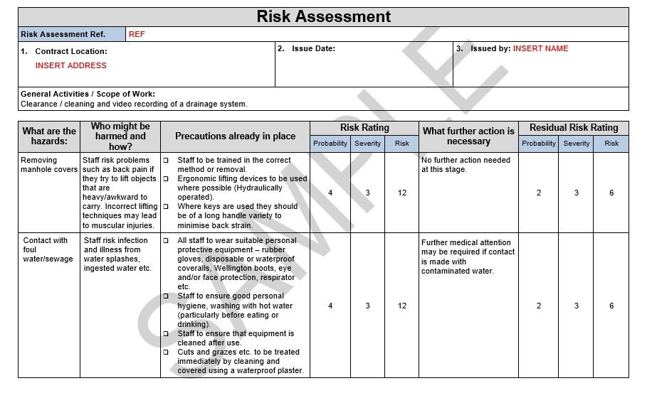 risk assessment and method statement template k--k.club 2017