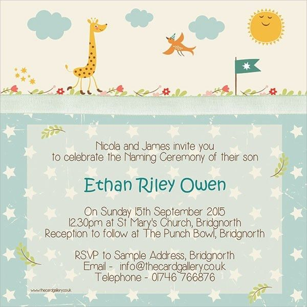 Sample Naming Ceremony Invitation Template - 9+ Documents Download ...