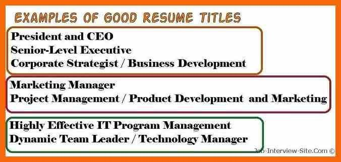 6+ resume title examples | credit letter sample