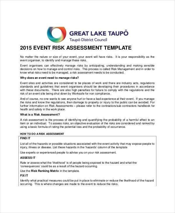 40+ Risk Assessment Examples