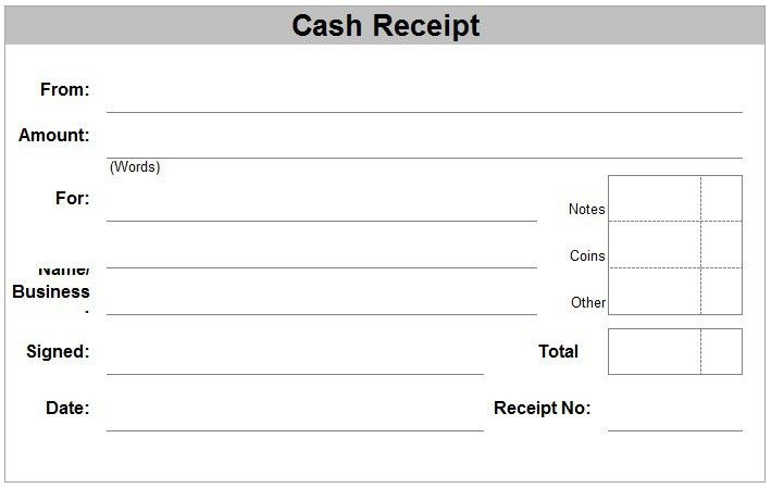 6 Free Cash Receipt Templates - Excel PDF Formats
