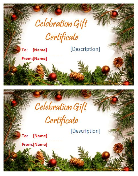 Holiday Templates - Gift Certificate Templates