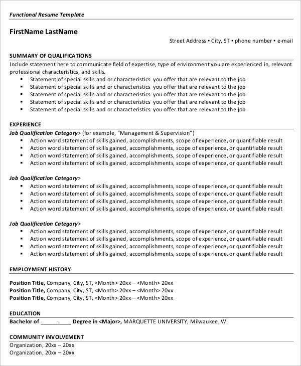 Free Executive Resume Templates. Free Functional Executive Resumes ...