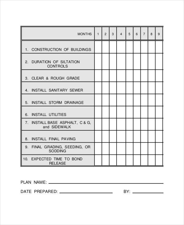 Construction Work Schedule Templates - 8+ Free Word, PDF Documents ...