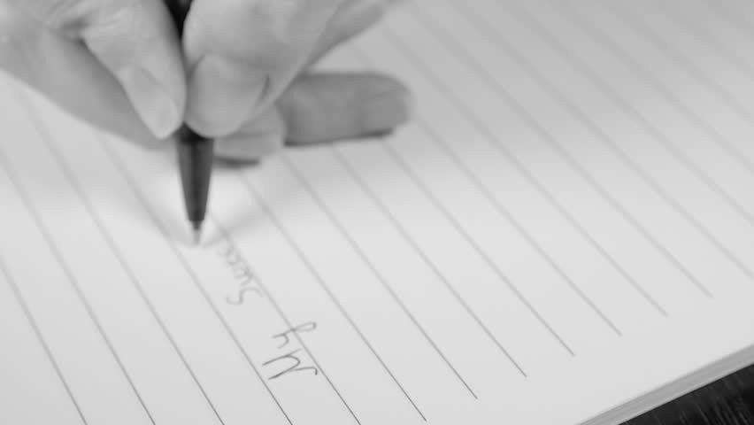 Writing Love Letter Slow Motion 1080p FullHD Footage - For My True ...