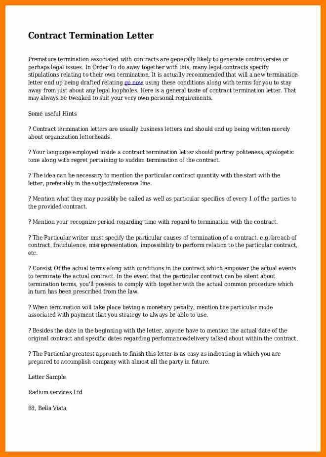 5+ contract termination letter   sephora resume