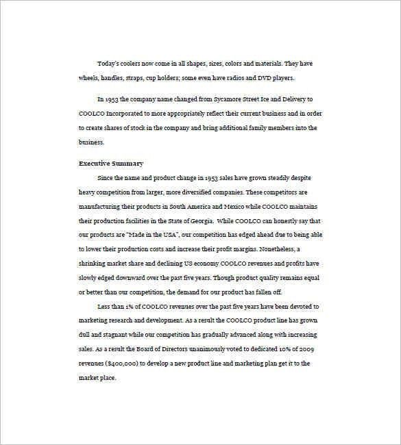 8+ executive summary sample | a cover letters