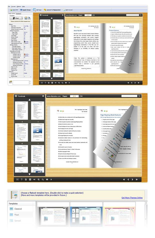 Convert Microsoft Word and OpenOffice to flash flip book with 3D ...