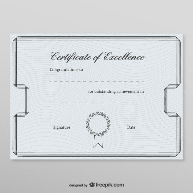Honorary certificate template Vector | Free Download