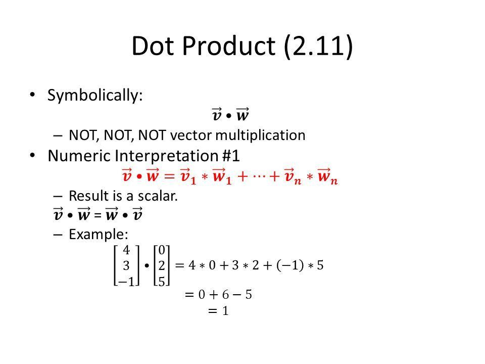 X Dot & Cross Product. - ppt download