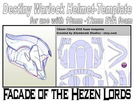 Destiny Warlock Helmet 'Facade of the Hezen Lords'. Template for ...