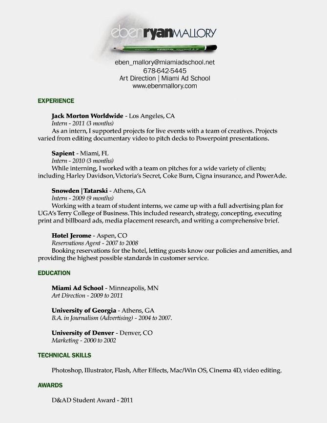 Art Student Resume - Best Resume Collection