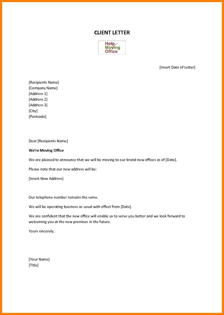 7+ change of address letter to vendors template | cashier resumes