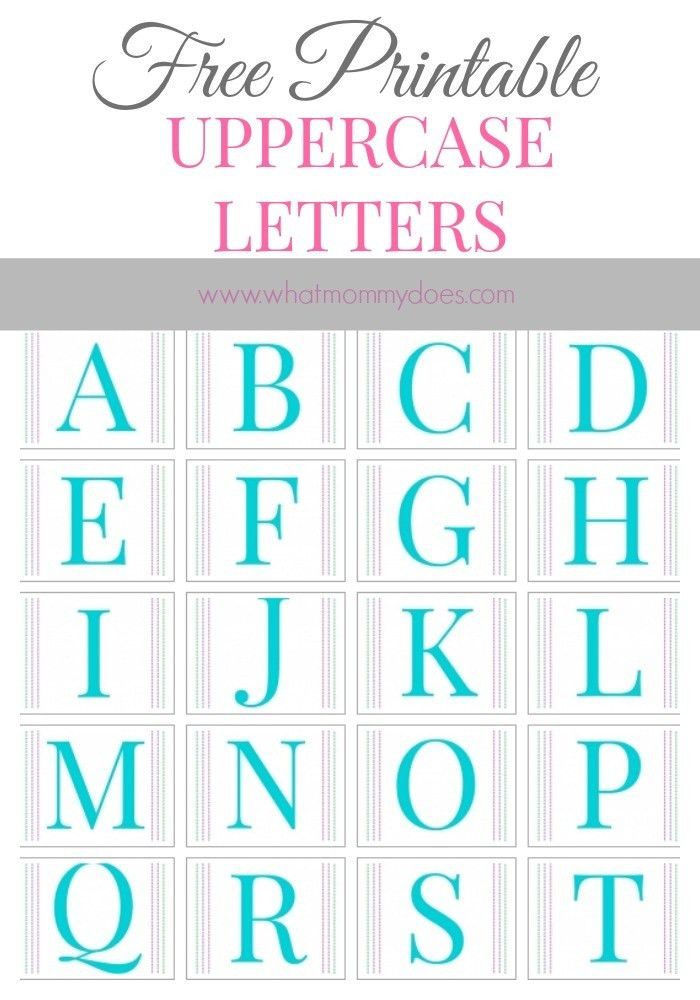 Free Printable Alphabet Letters A to Z | Large printable letters ...