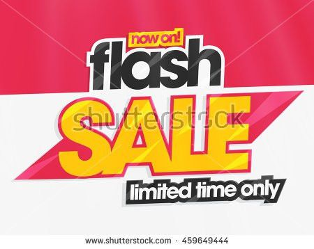 Flash Sale Limited Time Only Creative Stock Vector 459649444 ...
