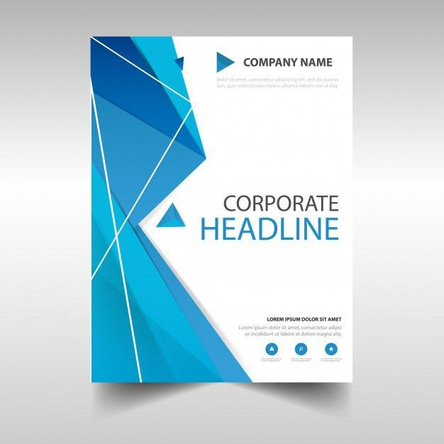 Polygonal annual report book cover template Vector | Free Download