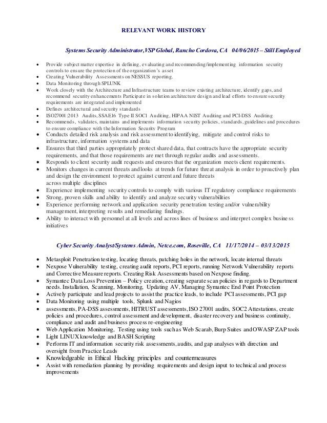 Information Security Resume] Download Information Security Resume