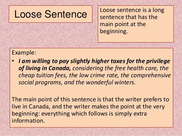The Types of Sentences