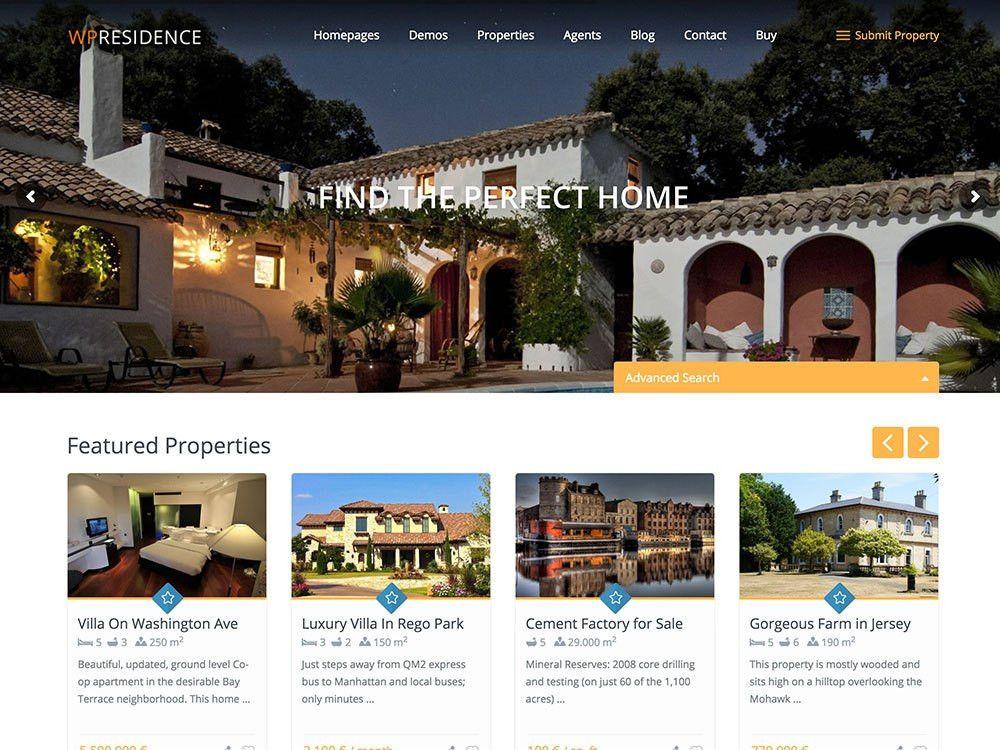 30+ Best Real Estate WordPress Themes 2017 - aThemes
