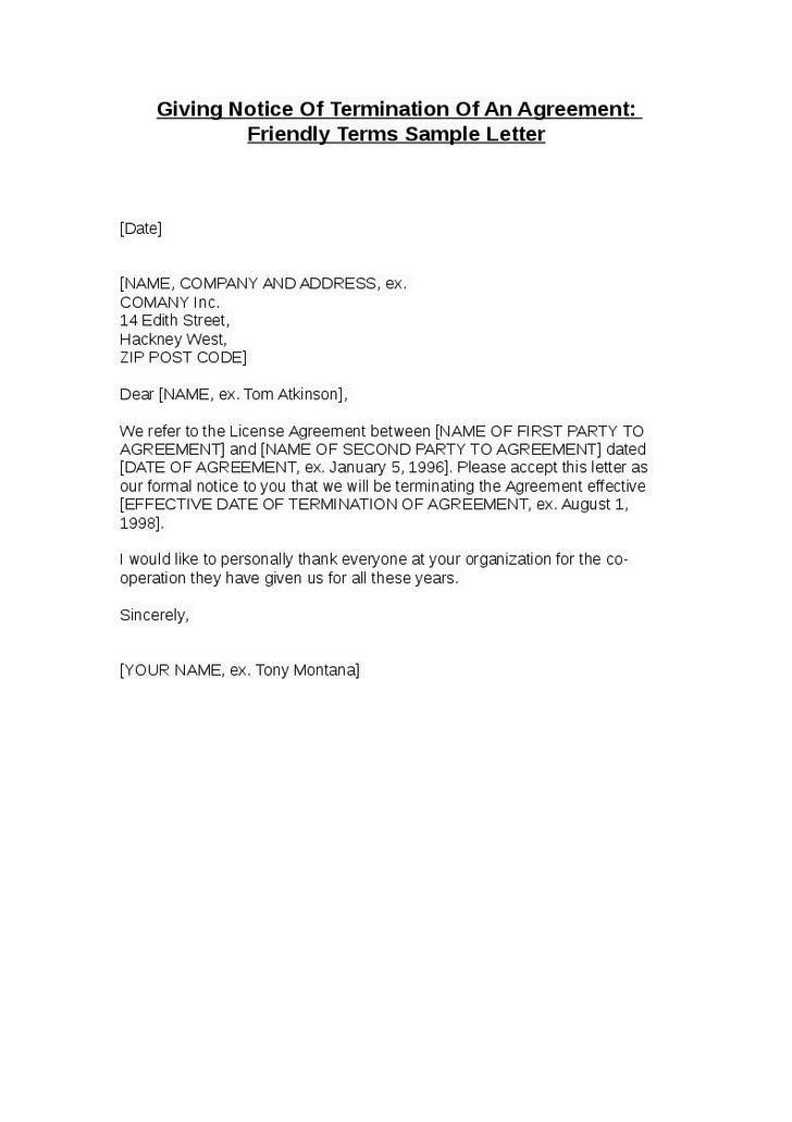 12 Best Images of Sample Contract Termination Notice - Contract ...