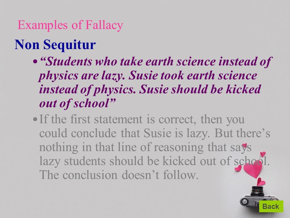 Lesson Five Love is a Fallacy. - ppt download
