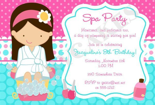 9+ Spa Party Invitations - Free Sample, Example, Format Download ...