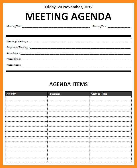 10+ meeting schedule template excel | parts of resume