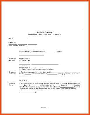 Free Printable Land Contract Forms - gameshacksfree
