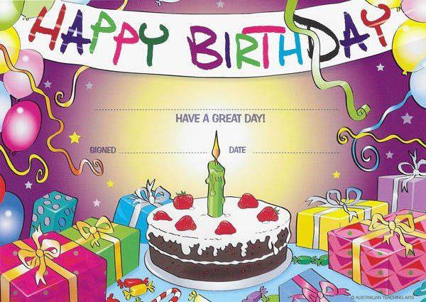 8 Best Images of Birthday Certificates For Students - Happy ...