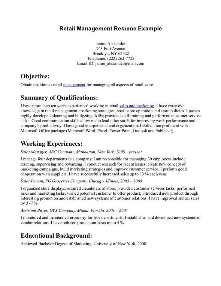 management resume objective management resume objective