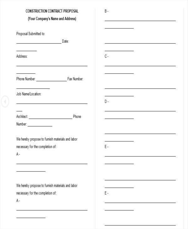 5+ Proposal Contract Templates - Free Sample, Example, Format Download