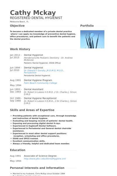 Dental Hygienist CV Örneği - VisualCV Özgeçmiş Örnekleri Veritabanı