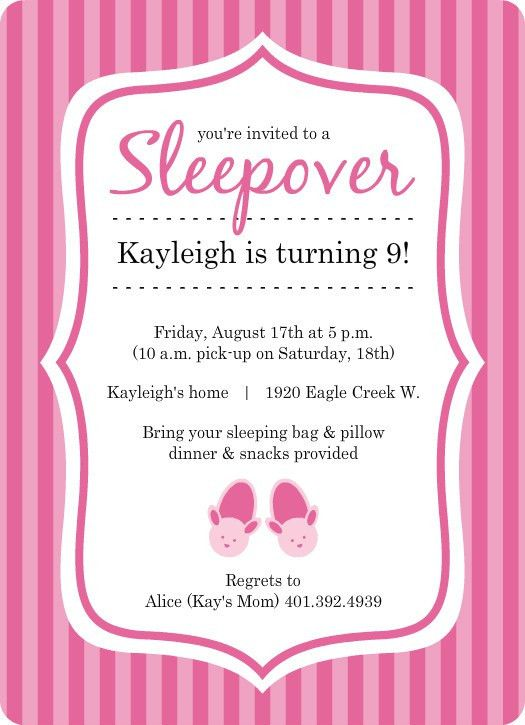 Slumber Party Invitations Templates Free | cimvitation