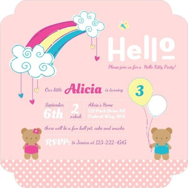 Hello Kitty Birthday Party Ideas, Invitations, Wording, Crafts