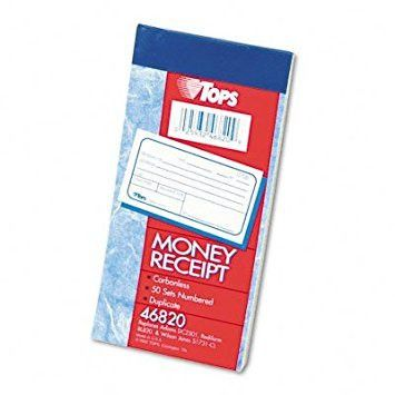 Buy Money and Rent Receipt Books, 2-3/4 x 7 1/8, Two-Part ...