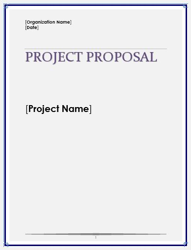 Free Project Proposal | Microsoft Word Templates