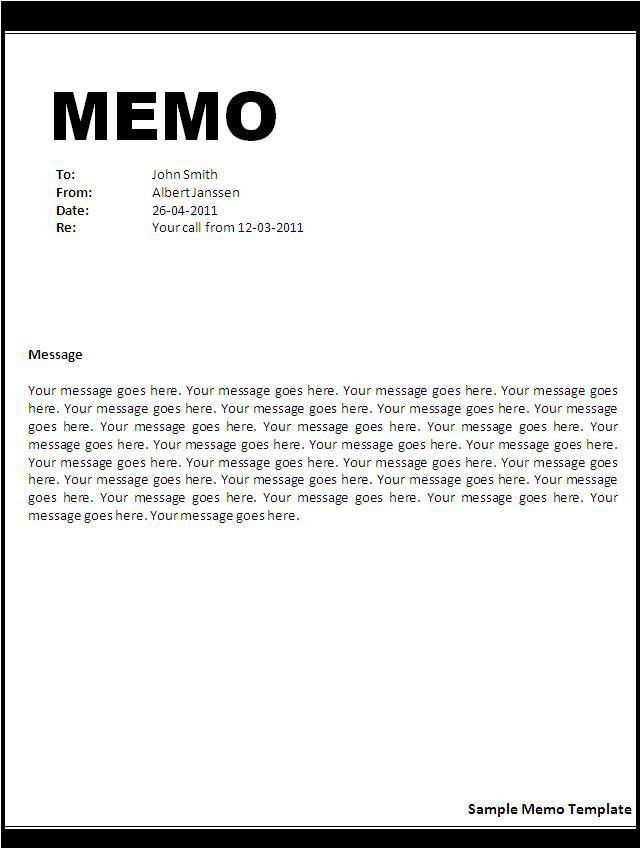 Downloadable Memo Template  BesikEightyCo