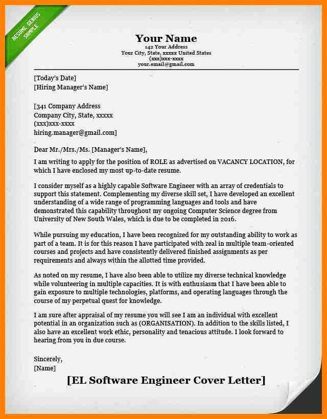 cover letter example engineering