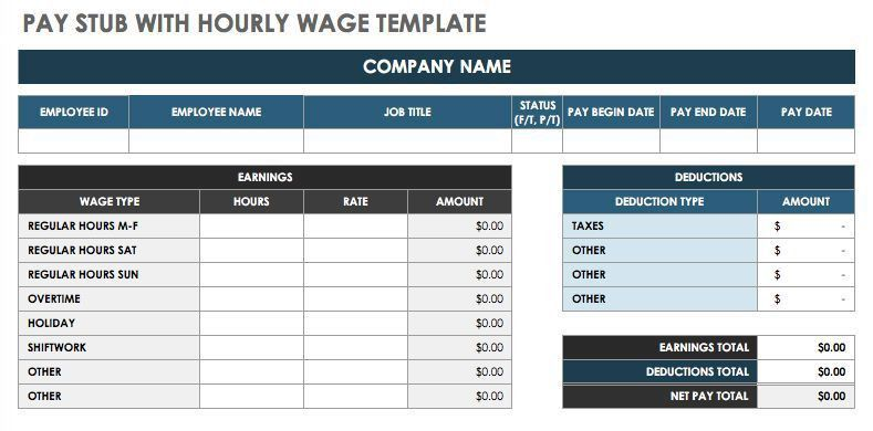 free pay stub template generator