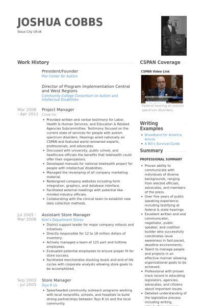 President/Founder Resume samples - VisualCV resume samples database