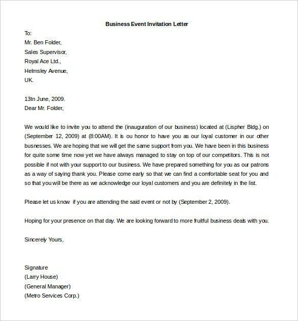 Sending A Business Letter | The Letter Sample