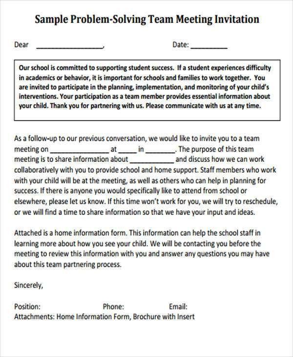 Meeting Invitation Templates | Free & Premium Templates