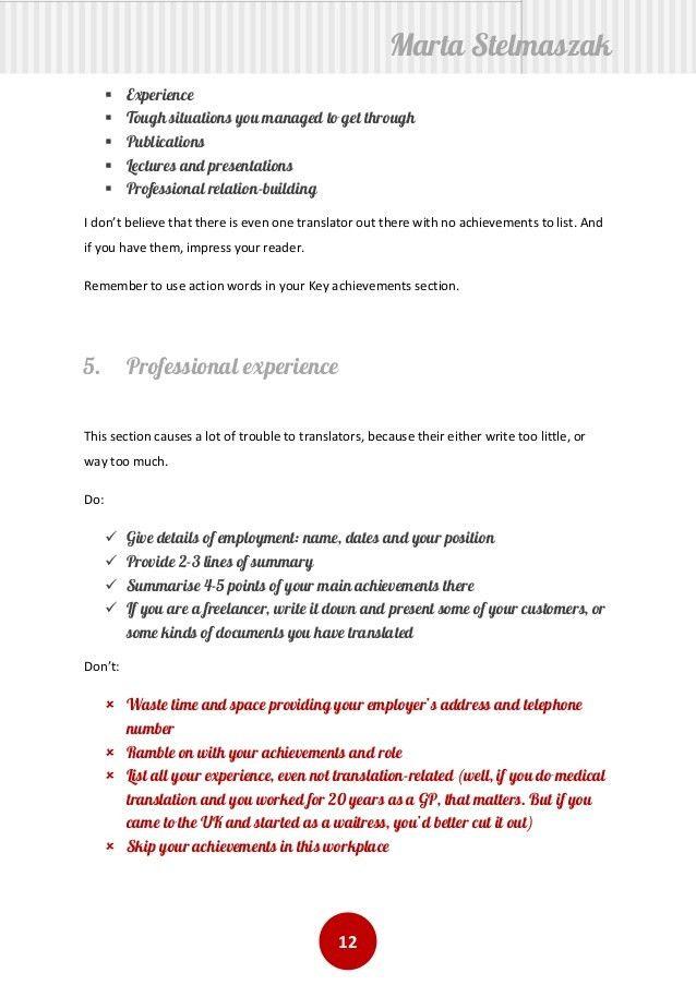 Bright And Modern Resume Translation 7 Build Your Translator ...