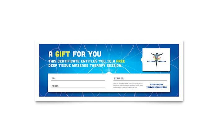 Reflexology & Massage Gift Certificate Template Design